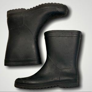 Black Rubber Rain Boots  Size 8